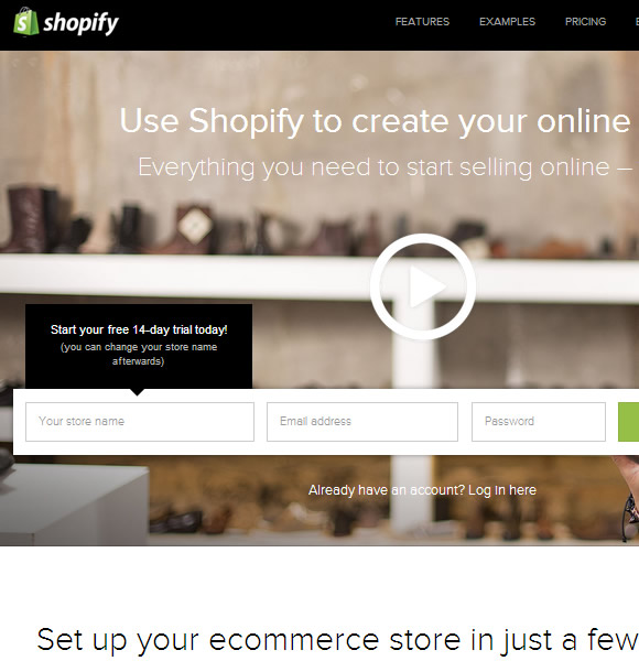Ecommerce Website Name : Shopify