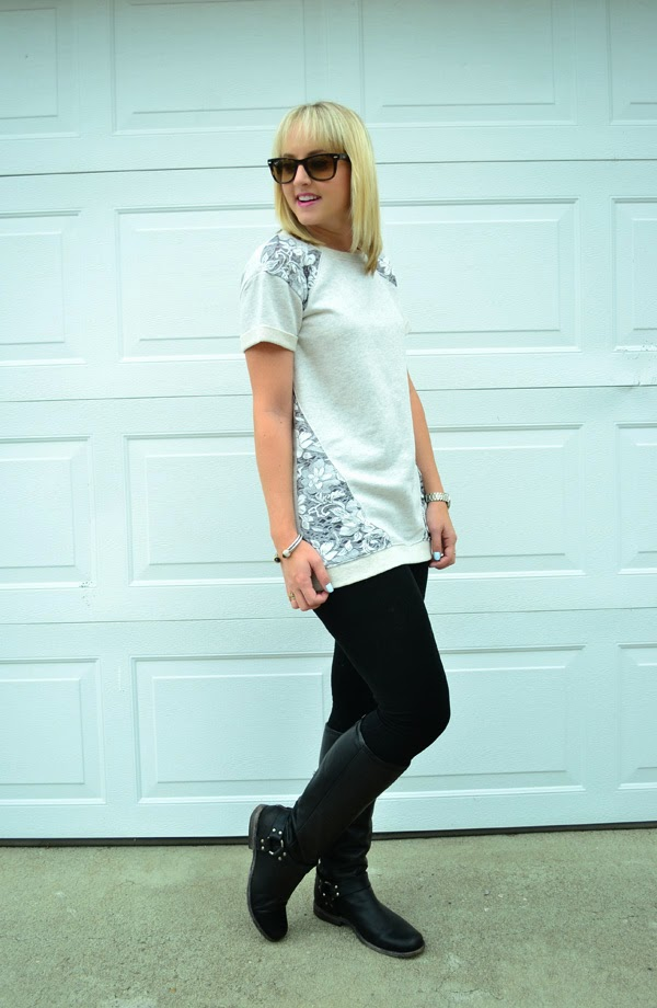 tights, tunic, boots, rainy weather, fashion blog