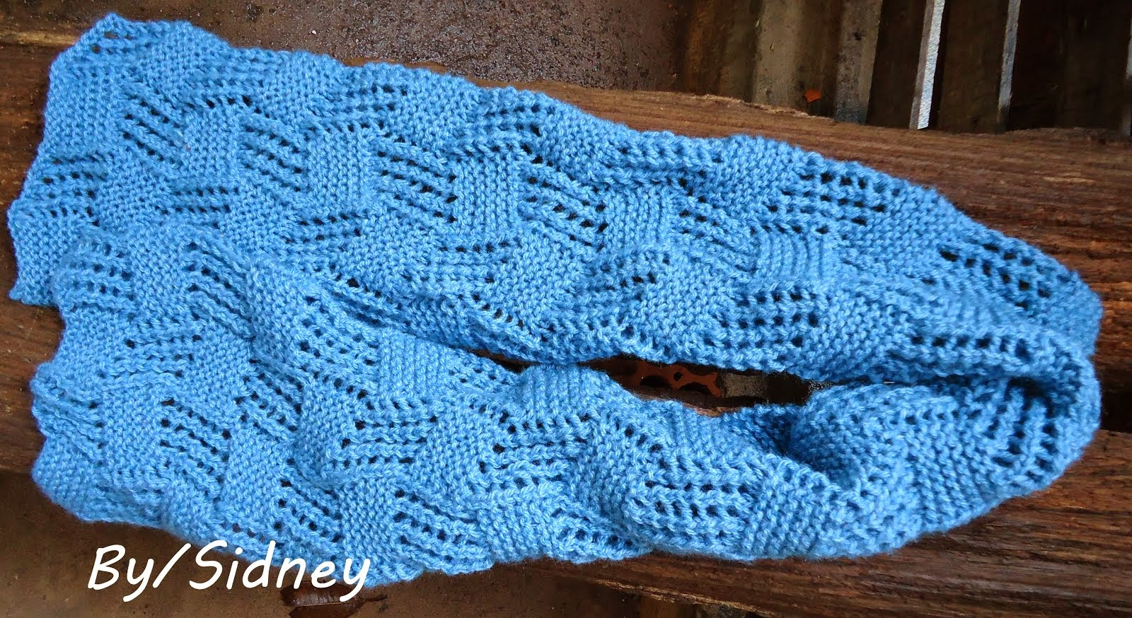 Cachecol tricot blue