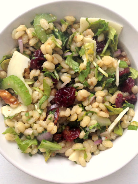 Pearled Barley Salad with Cherries and Arugula
