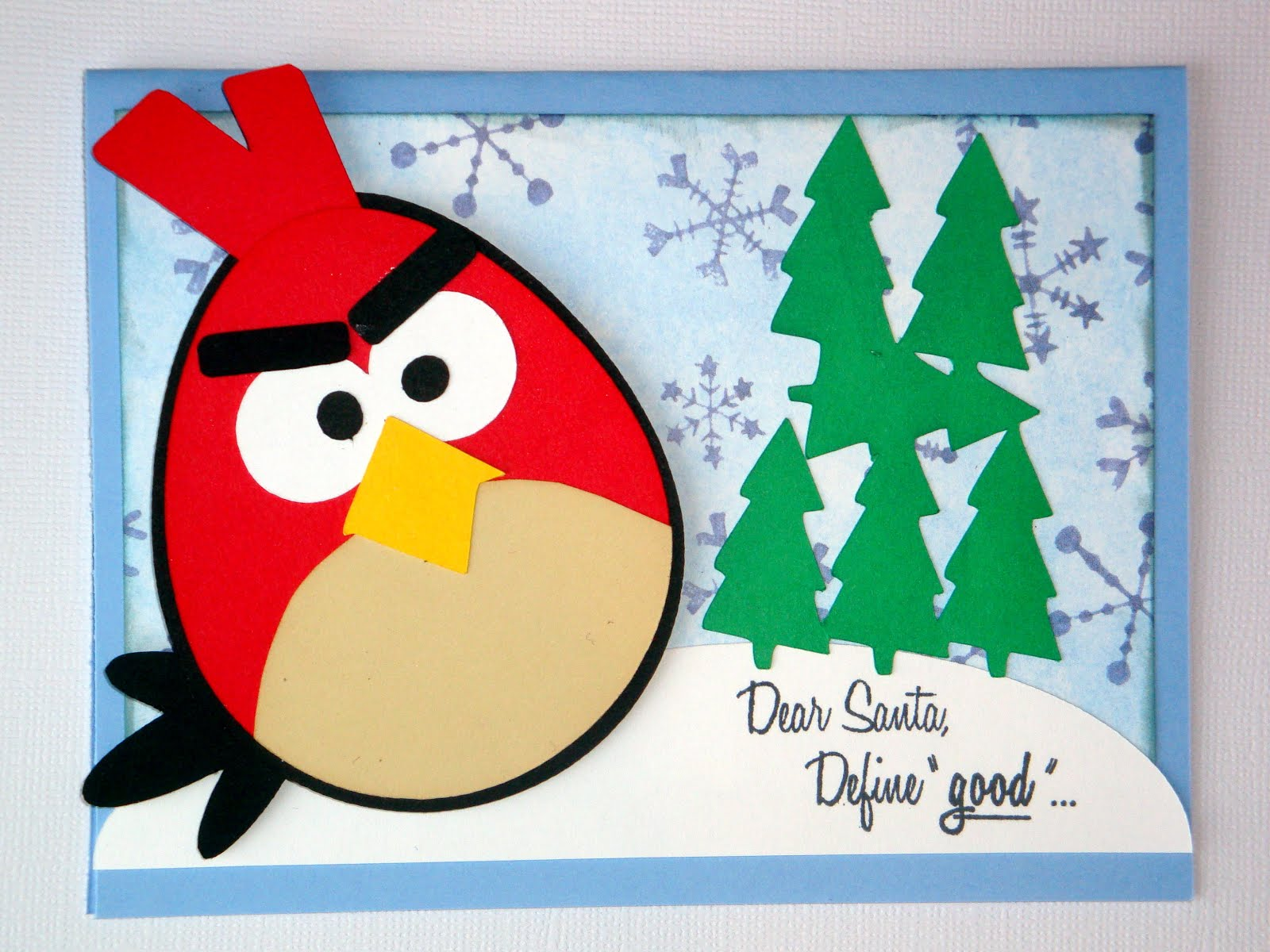 The Cropping Canuck: Day 3 of Holiday inspiration - angry birds cards