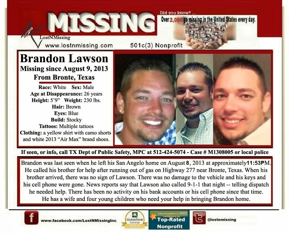 Missing Brandon Lawson Missing Posters