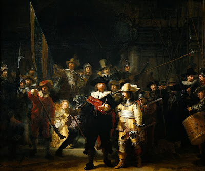 "Famous painting ""The Night Watch"" by Rembrandt,1642"