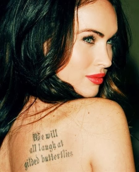Tattoo Quotes Celebrities: Megan Fox Tattoos List