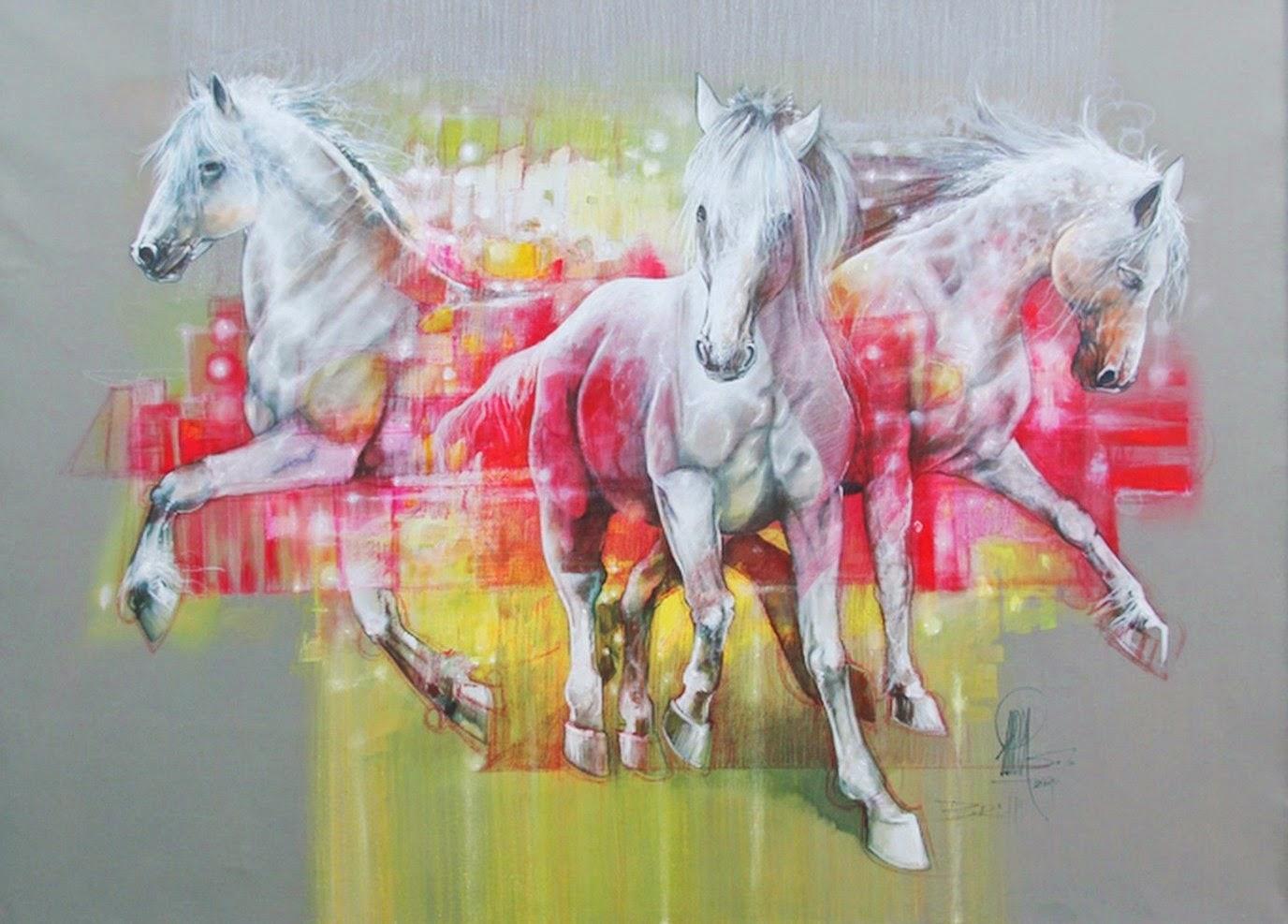 pinturas-modernas-con-caballos
