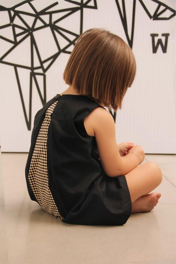 Open back dress by Motoreta SS14 kids fashion collection