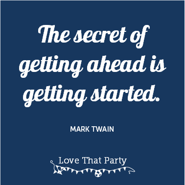 mark twain quoted wors on blue square motivational