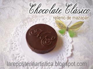 recuerdos chocolate mazapan   personalizado iniciales