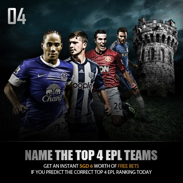 NAME THE TOP 4 EPL TEAMS Christmas Countdown 2012