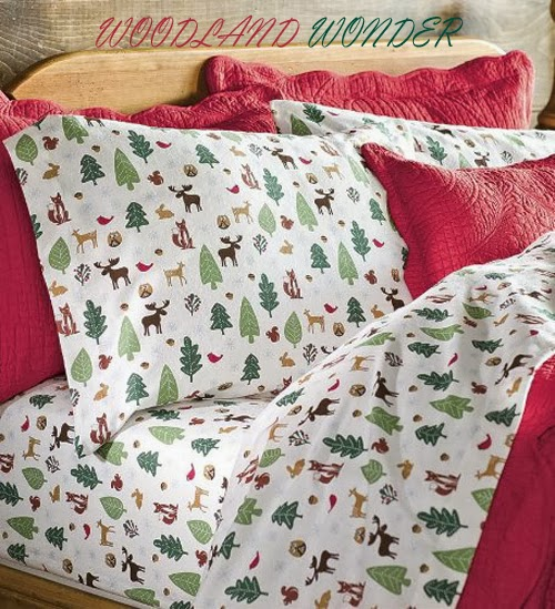 Popular Woodland Wonder sheet set pillows and rug featuring all kinds of woodland critters including an inquisitive owl an eager fawn a cute squirrel along with