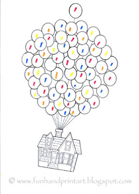 Disney Pixar Up House Coloring Page