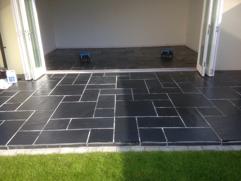 Slate floor and the great grout haze removal - Stone Floor Cleaning ...