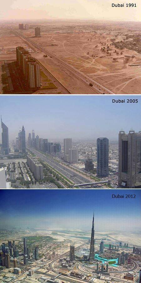 Dubai City, Amazing, Progress, 1991, 2012, World, tapandaola111