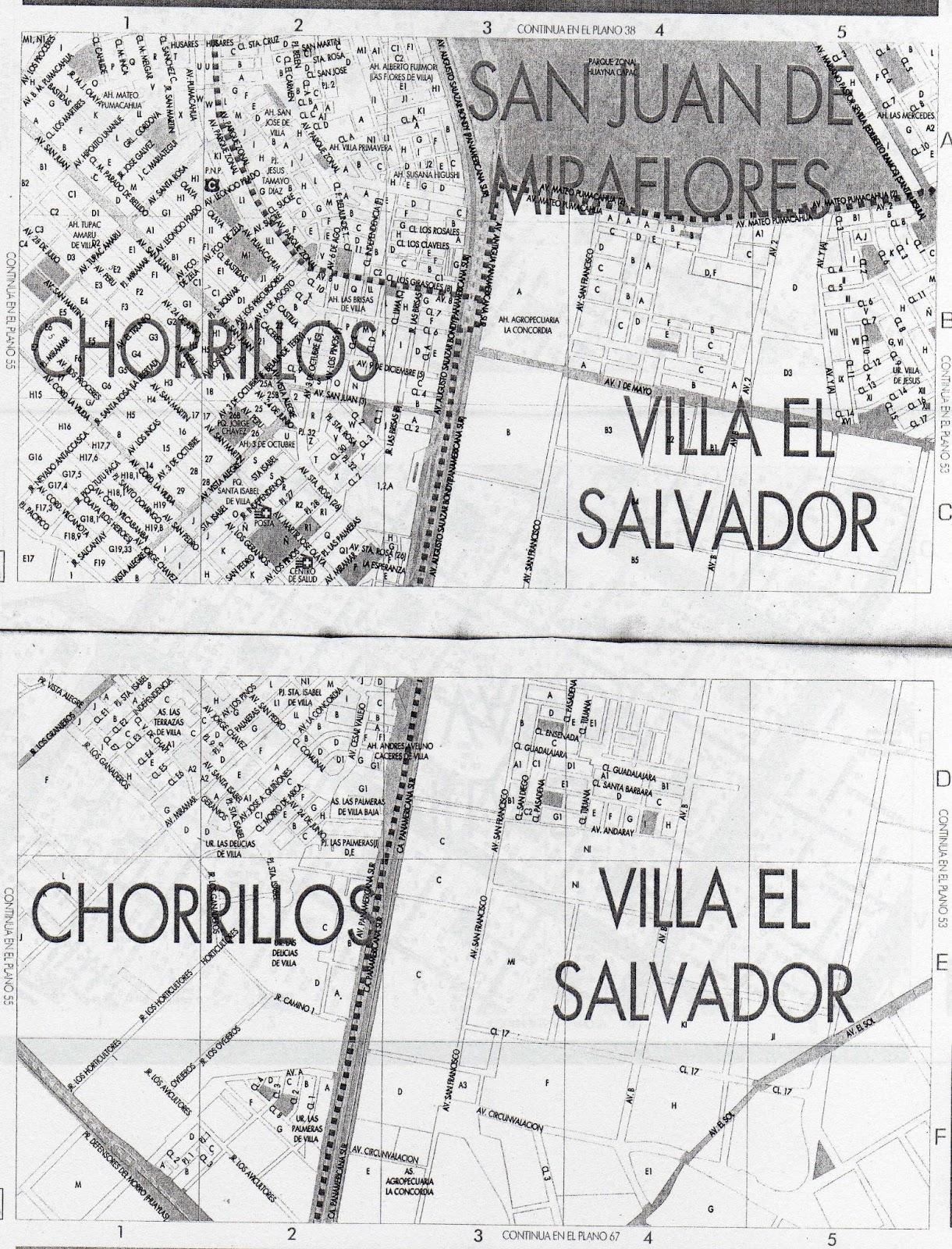 Para mis tareas mapa diagrama san juan de miraflores for Plano de villa el salvador