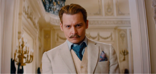 Johnny Depp aprecia seu grande bigode no hilário trailer de Mortdecai, com Gwyneth Paltrow e Paul Bettany