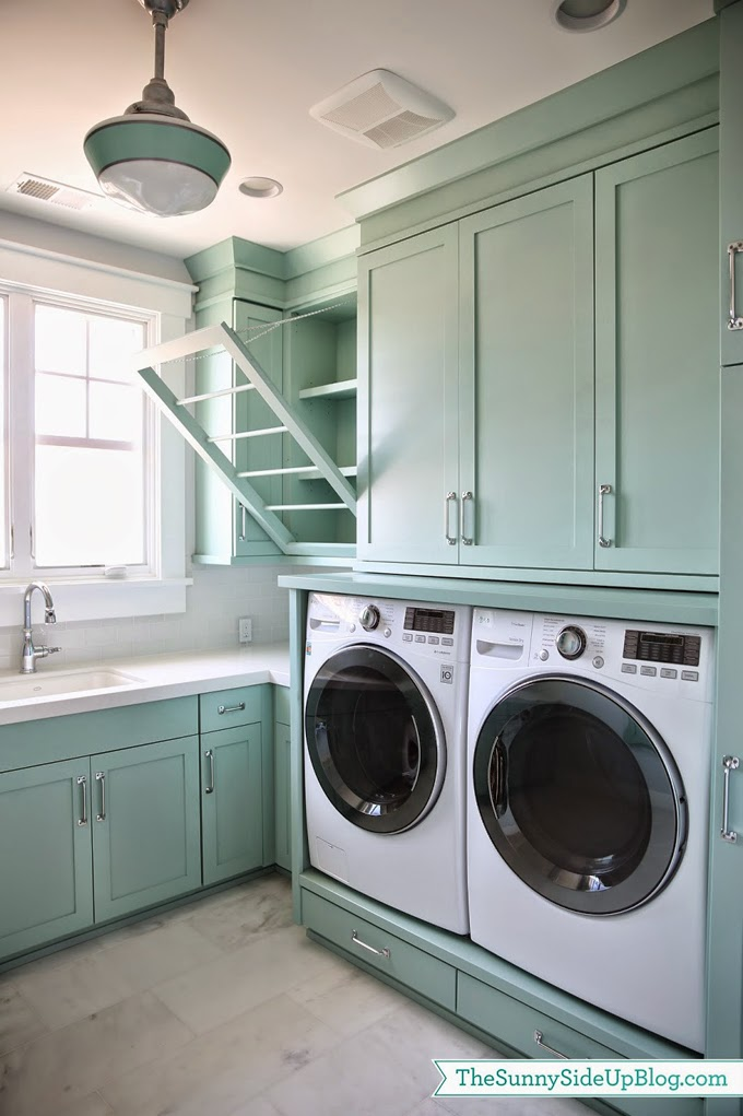 Sunny side up laundry room for Laundry room cabinets ideas