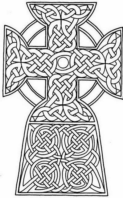 Celtic cross tattoo stencil