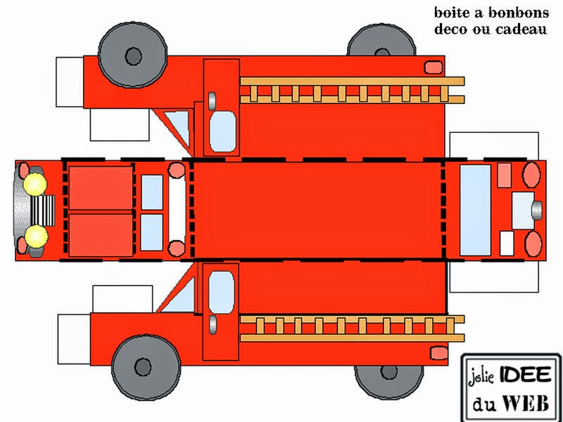 It is a picture of Irresistible Fire Truck Printable