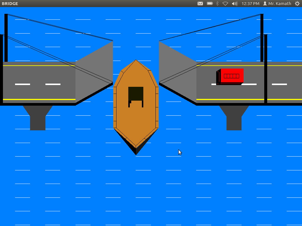Graphics And Game Programming In Opengl Lift Over Bridge