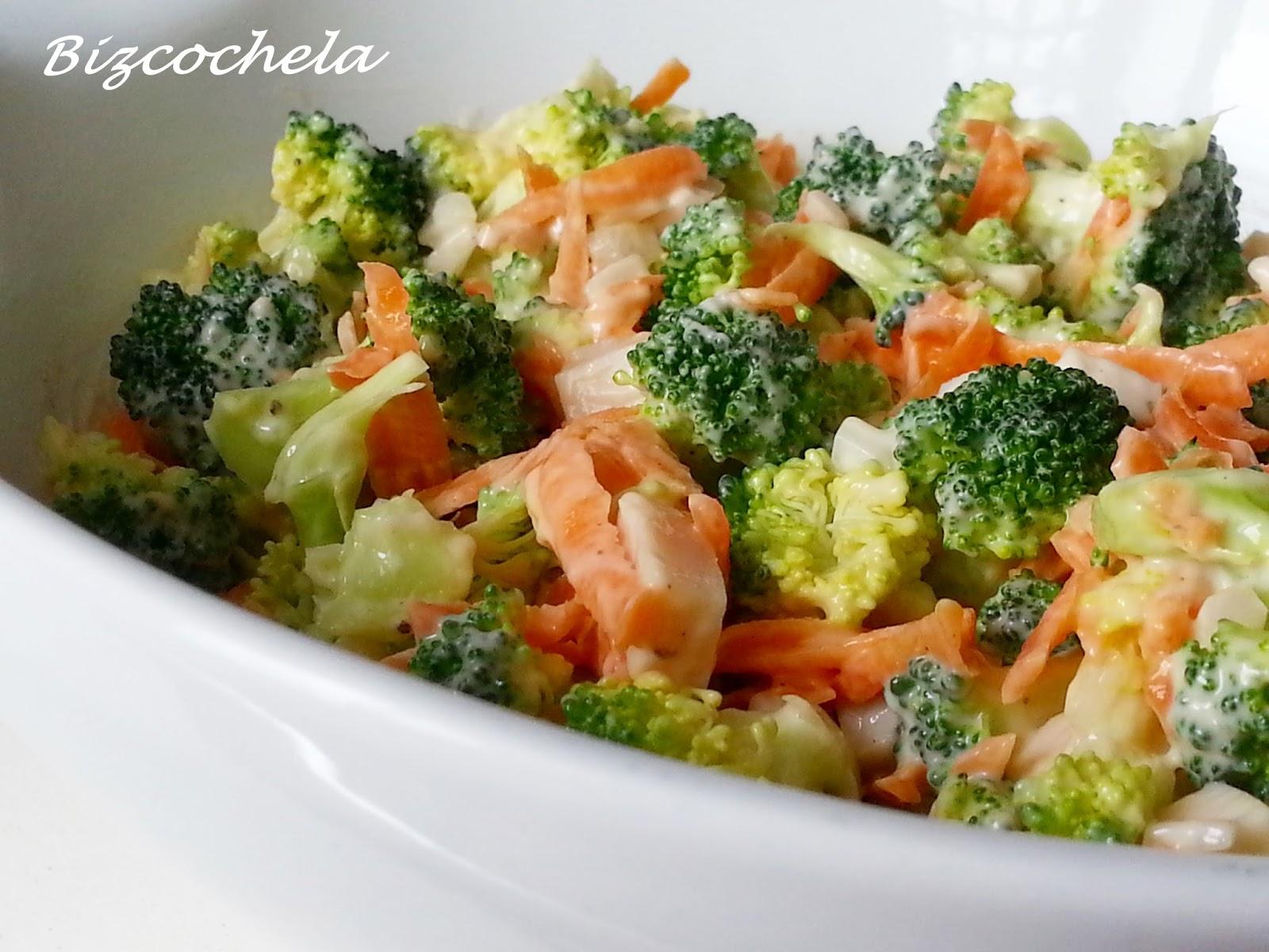 Ensalada de br coli for Cocinar zanahorias