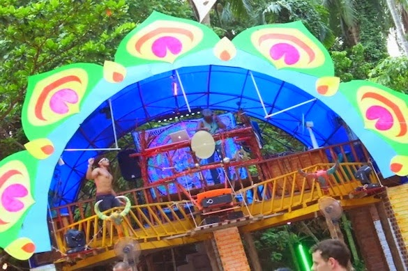dj booth at jungle experience koh phangan 2013