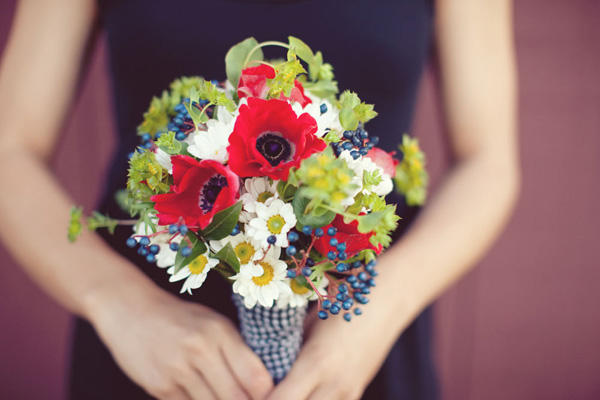 The confetti blog the great british summer red white and blue this gorgeous rustic bouquet makes great use of the colours photo sarah yates mightylinksfo