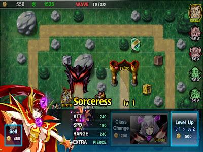 Fantasy Defense HD - เปลี่ยนคลาสเพิ่มพลังได้