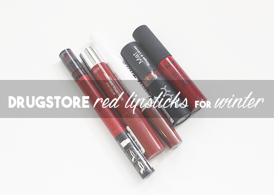 5 Affordable Red Lipsticks for Winter, a post on katielikeme.com fashion, beauty, life