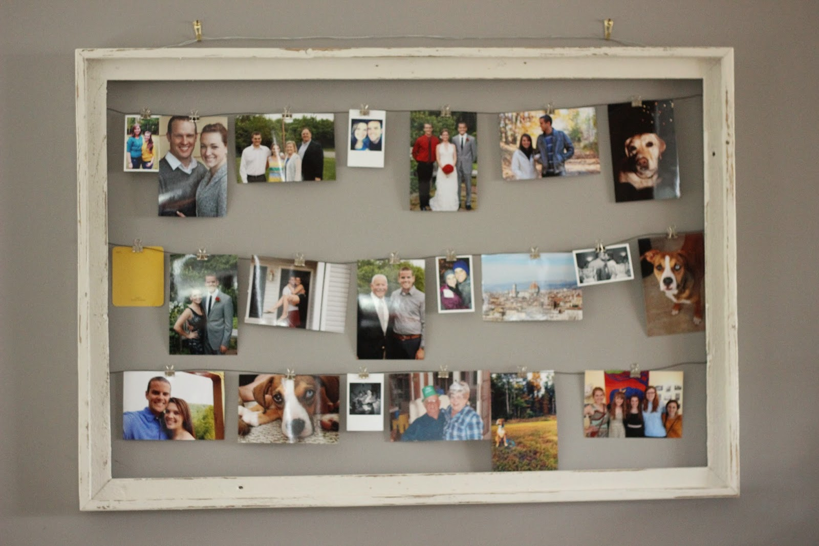 DIY Rustic Photo Collage Frame