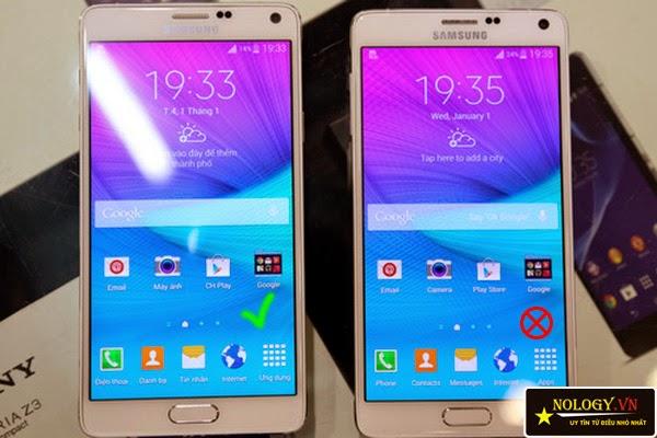 Nhận biết Samsung galaxy Note 4 chính hãng và hàng dựng