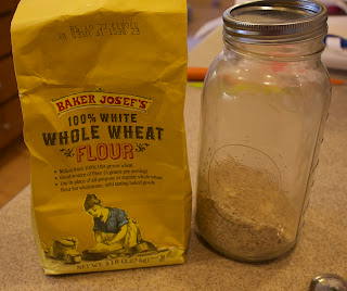 ... flour, 2 Tablespoons of whole wheat and 2 Tablespoons of almond flour