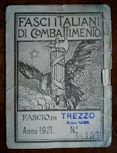 1921 - TESSERA DEL FASCIO DI TREZZO SULL' ADDA