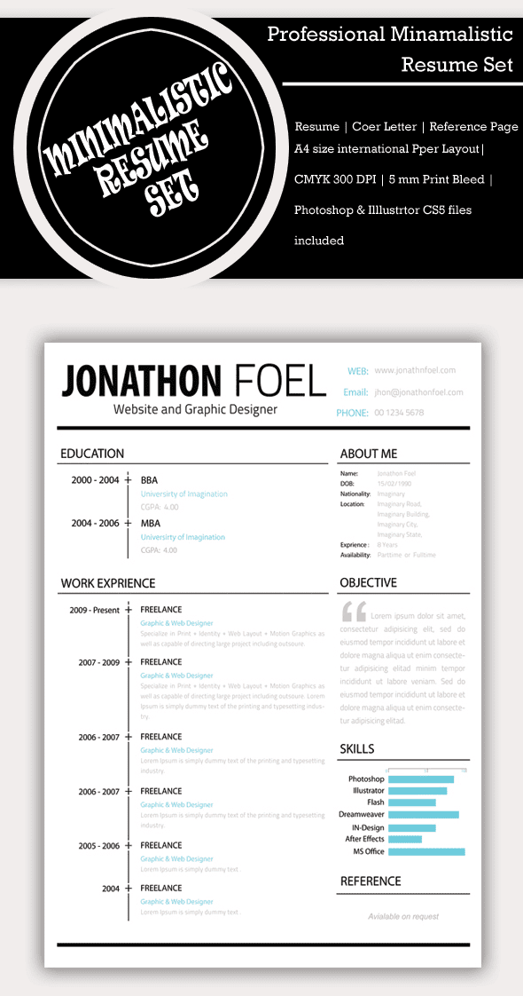 Resume PSD Set (Free-bie)