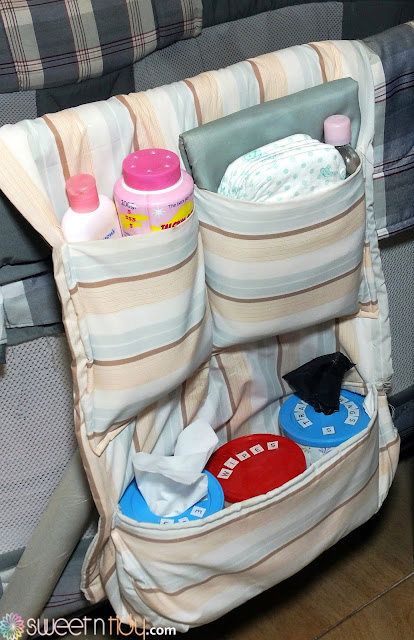 DIY diaper changing organizer