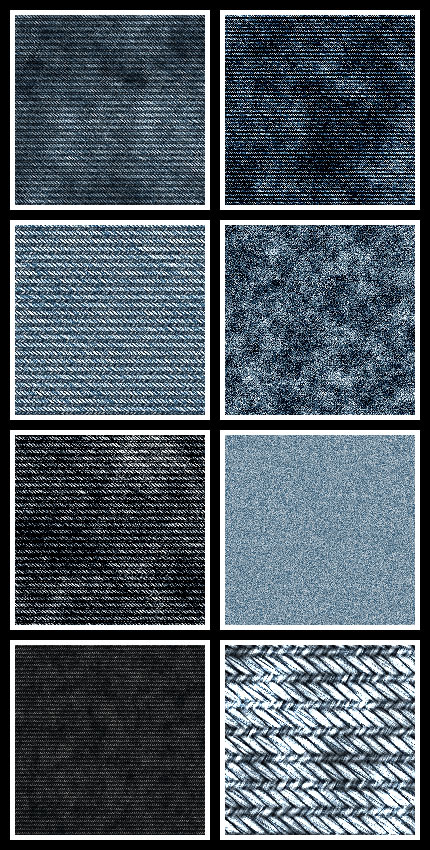 Jeans seamless tiling patterns