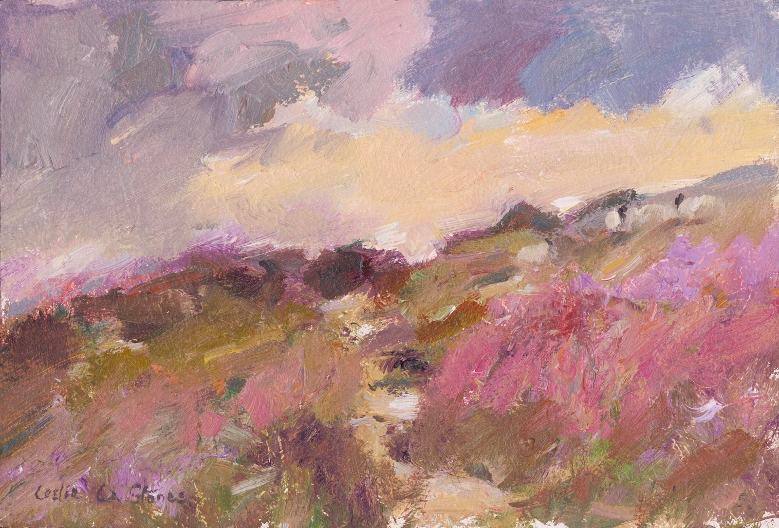 Moorland oil painting