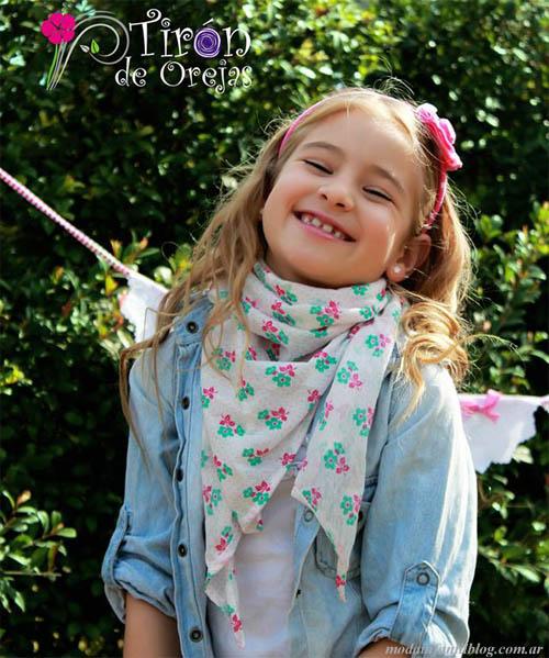 moda infantil 2014 pañuelos niñas
