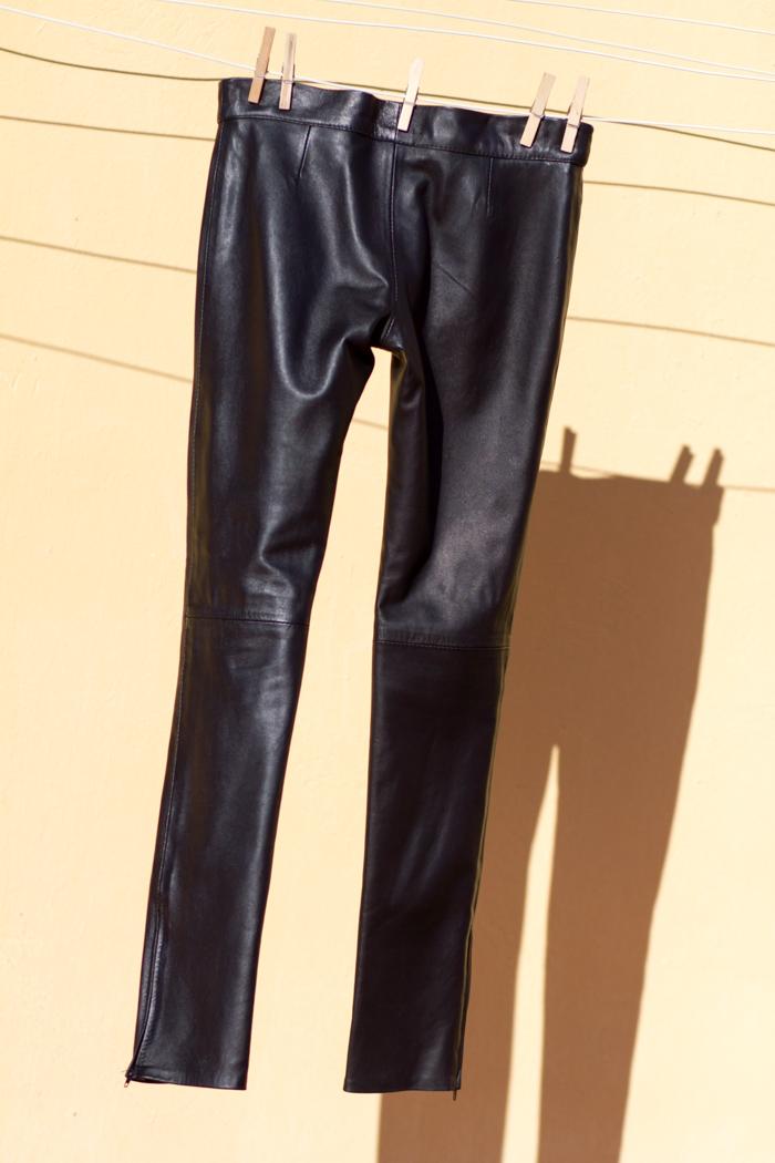 Pantalones pitilllo negros cuero napa piel Gabriel Seguí Valencia moda tendencias España bloguera withorwithoutshoes