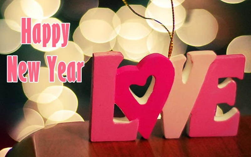 New Year Greeting Card for Lover