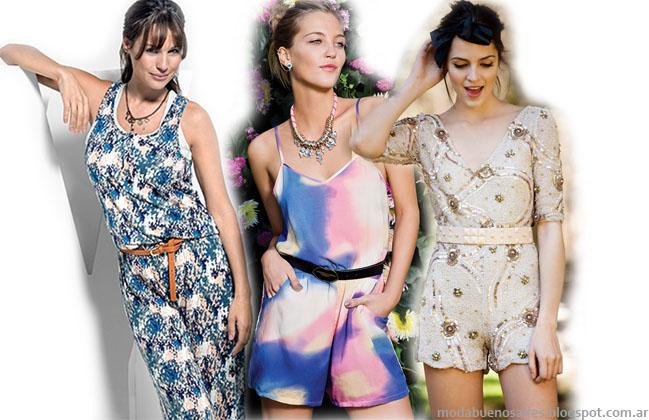 Moda 2014. Monos verano 2014 marcas argentinas.