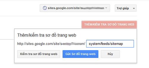 Hướng dẫn cách tạo sitemap cho Google site