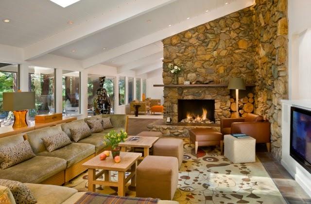 Fotos de salas r sticas modernas colores en casa - Decoracion rustica y moderna ...