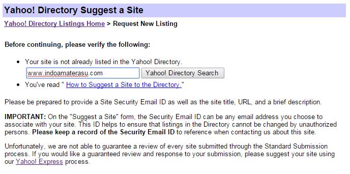 Yahoo! Directory 2