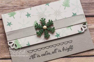 Hello December - A Fast and Fabulous Christmas Card - Get the details here