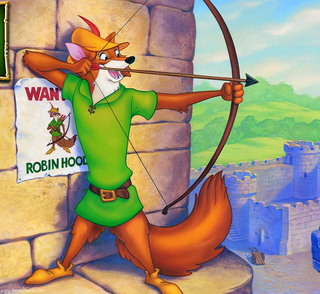 how to draw robin hood disney characters