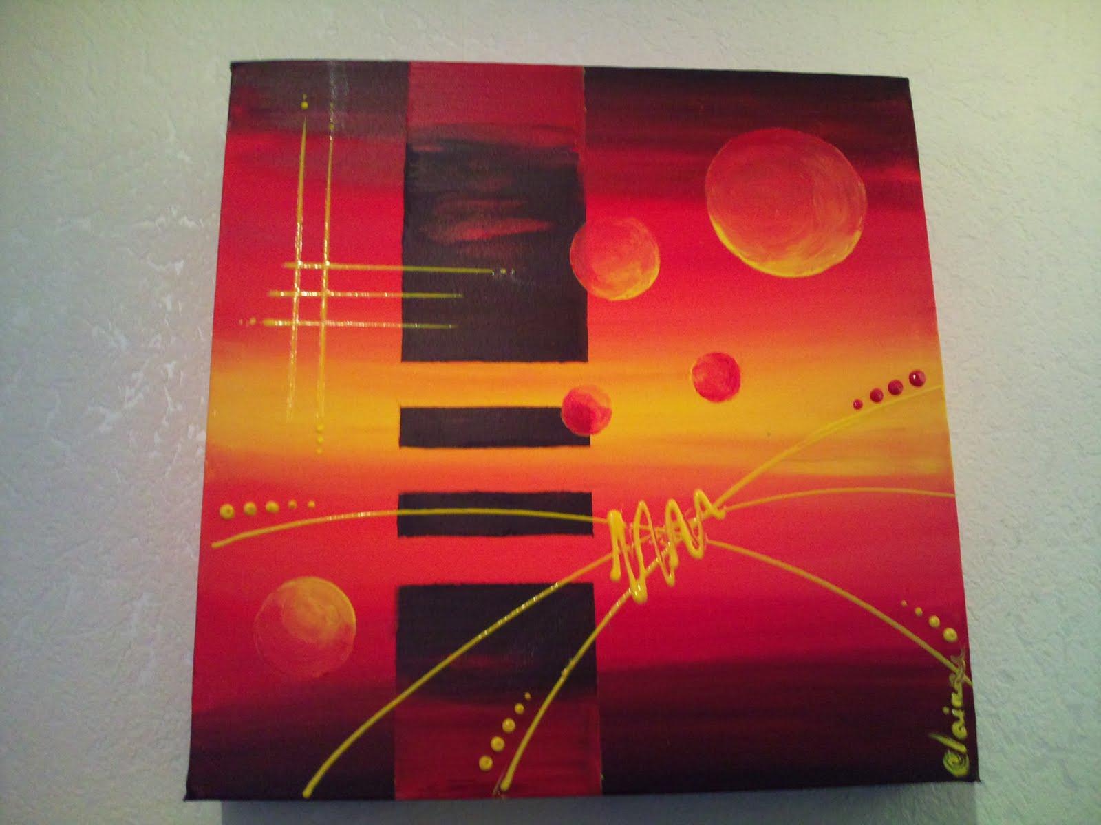 Au gr de mon pinceau entre deux monde - Tableau couleur chaude ...
