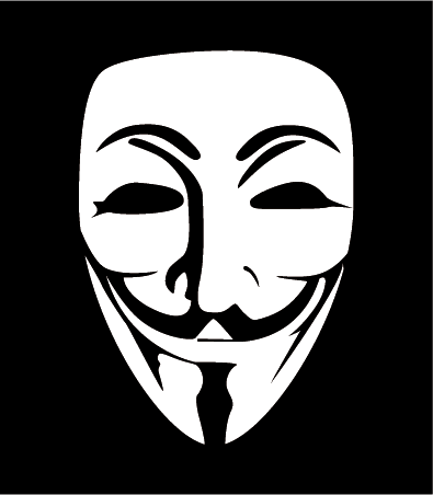 máscara de anonymous - vector