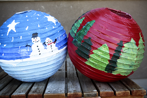 Be different act normal christmas paper lanterns