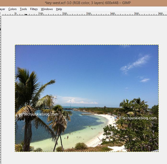 GIMP resized image