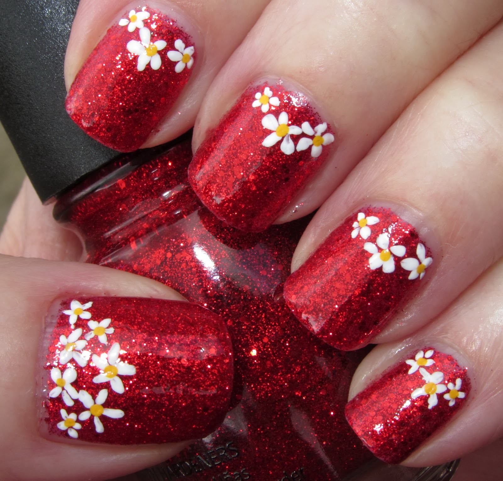 Marias nail art and polish blog: flower half moons